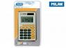 Kalkulator kieszonkowy Milan - szaro-pomarańczowy (150208OBL)