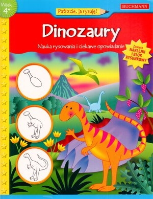 Dinozaury Nauka rysowania i ciekawe opowiadanie Winterberg Jenna