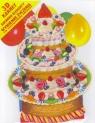 Karnet składany 3D - W dniu Twojego święta - Tort