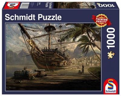 Puzzle PQ 1000 Statek w porcie G3