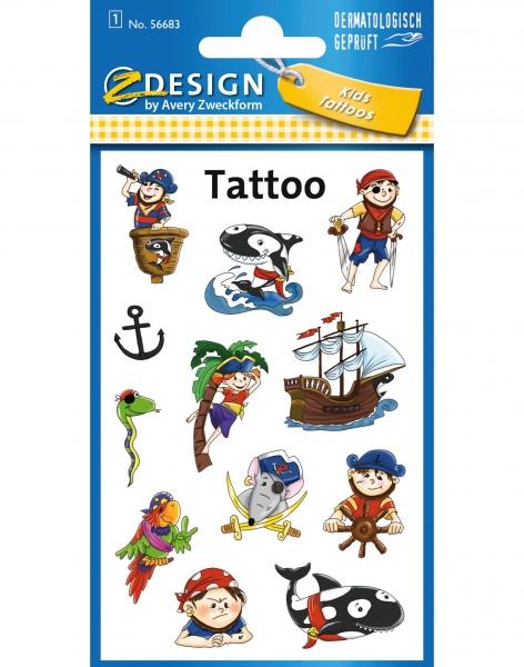 Tatuaże dla dzieci - piraci (56683)