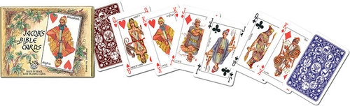 Karty go gry Piatnik 2 talie Stary Testament