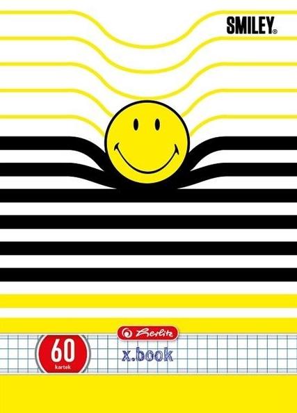 Zeszyt A5/60k w kratkę Smiley mix (9563834)