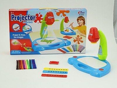 Zabawka edukacyjna Adar projektor 3w1, na baterie, znikopis, kredki (525832)