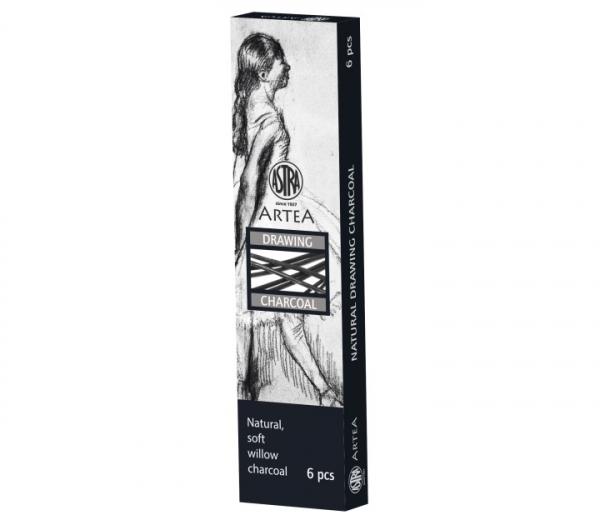 Węgiel naturalny rysunkowy Astra Artea 6-8mm, 6 sztuk (323115003)