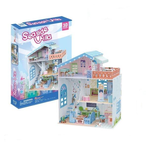 PUZZLE 3D Domek dla lalek Seaside Villa (P683H)