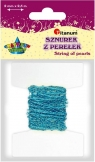 Sznurek koralików 2mm/2,5m.niebieskie