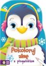 Pokoloruj zimę z pingwinkiem