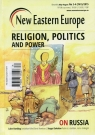 New Eastern Europe 3-4/2015 Religion, politics and power