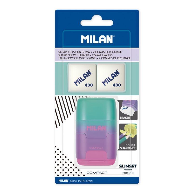 Milan, temperówko-gumka Compact Sunset + 2 gumki 430 (BYM10451)