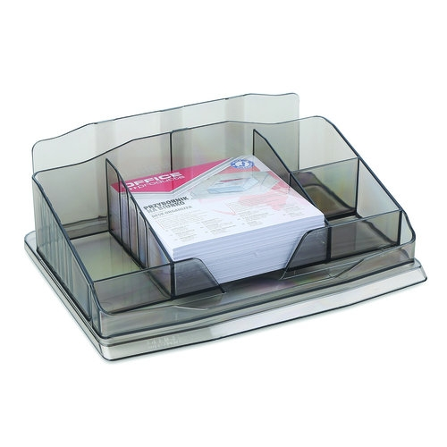 Przybornik na biurko z karteczkami plastik dymny Office Products (18156411-91)