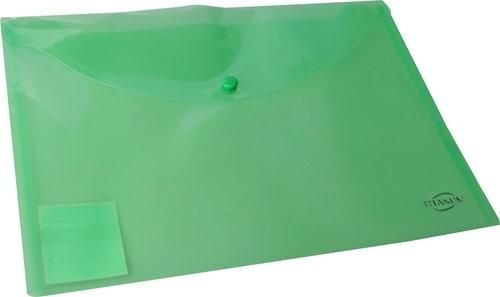 Teczka kopertowa A4 zielona transparentna
