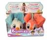 Bunnies Friends: Pluszowy ptaszek z magnesem 2-Pak - biało-niebieski i