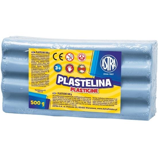 Plastelina Astra, 500 g - niebieska jasna (303117008)