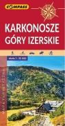 Mapa turystyczna - Karkonosze, Góry Izerskie