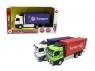 Ciężarówka z kontenerem z napędem i efektami