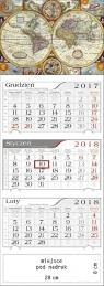 Kalendarz 2018 Trójdzielny Antyczna Mapa