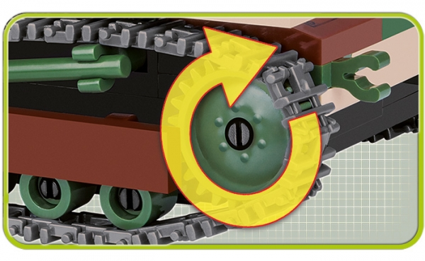 Cobi: Mała Armia WWII. TKS Tankietka - polski lekki czołg rozpoznawczy (2383)