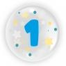 """Balon 45 cm - """"Cyfra 1"""" niebieski (TB 3601)"""