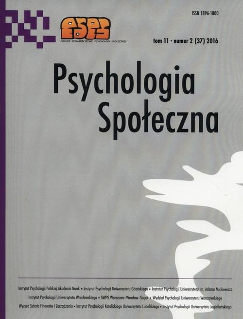 Psychologia społeczna 2/2016