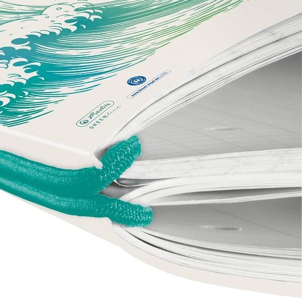 Notatnik flex GREENline A4/2x40 kratka + linia - Fale (50033645)