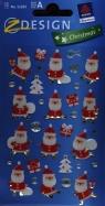 Naklejki świąteczne błyszczące 3D Z Design Christmas Mikołaje