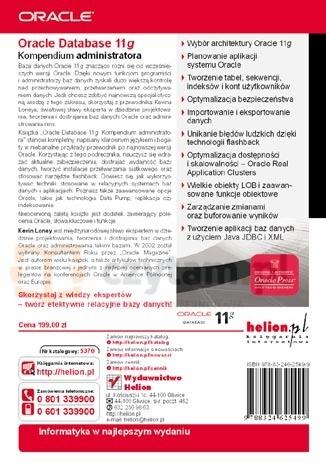 Oracle Database 11g Kompendium administratora Loney Kevin