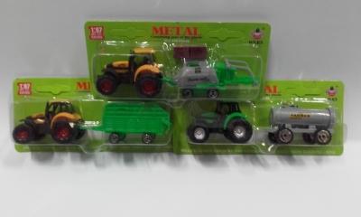 Traktor z przyczepą na blistrze .