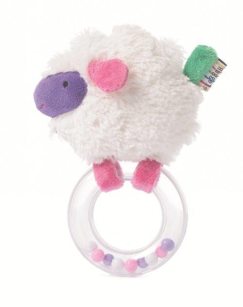 Grzechotka z kółeczkiem owieczka - 13cm