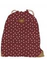 Worko-plecak Basic groszki bordowy