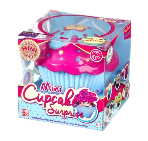 Mini cupcake - Babeczka z niespodzianką błękitna