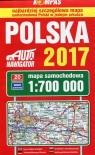 Polska 2017 Mapa samochodowa 1:700 000