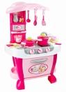 Kuchnia Kitchen Set 31 elementów Światło Dźwięk różowa