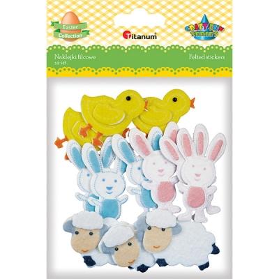 Naklejki piankowe Wielkanoc - 12 szt (395993)