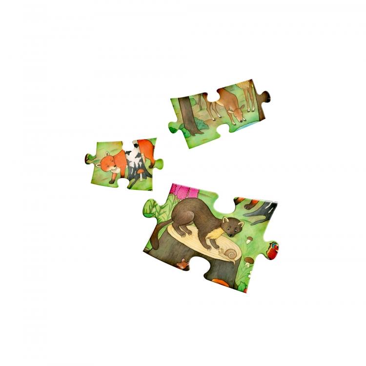 Czytaj z Albikiem. Nasz las. Interaktywne mówiące puzzle (31937)