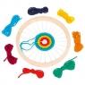Okrągłe krosno, 7 kolorów wełny (GOKI-58783)