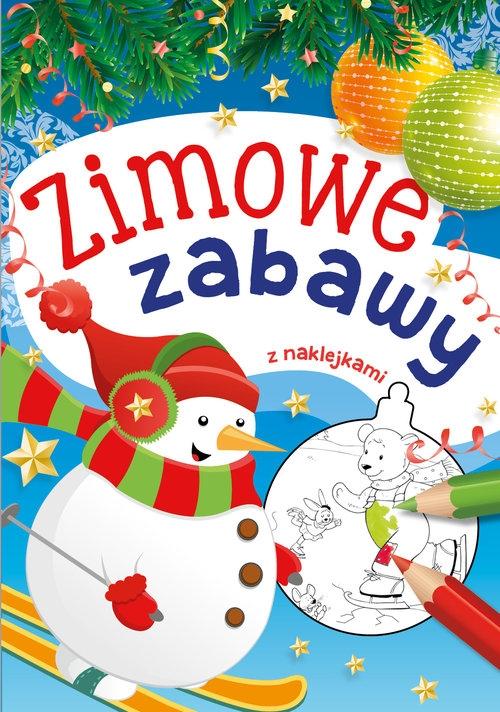 Zimowe zabawy z naklejkami Drabik Wiesław