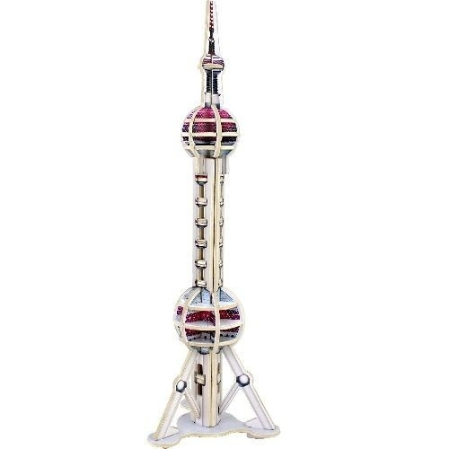 Puzzle drewiane 3D Wieża Oriental Pearl
