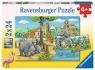 Puzzle 2x24 elementy - Witamy w Zoo (078066)