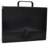 Teczka-pudełko Office Products PP A4 5cm, z rączką i zamkiem, czarna
