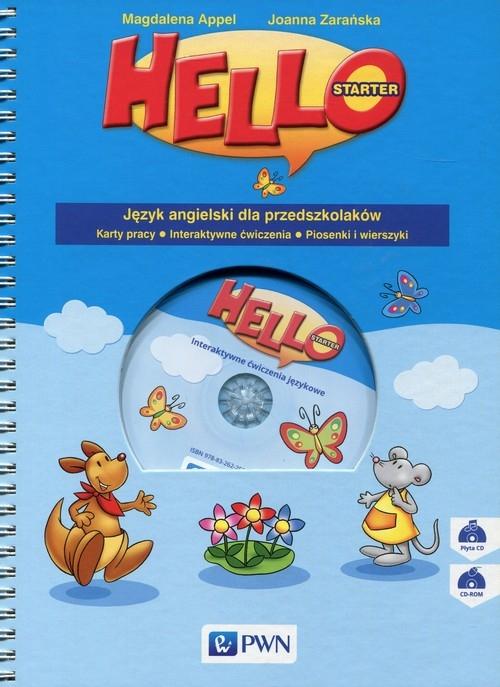 Hello! Starter Język angielski dla przedszkolaków Karty pracy Appel Magdalena, Zarańska Joanna