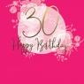 Karnet Swarovski kwadrat Urodziny 30