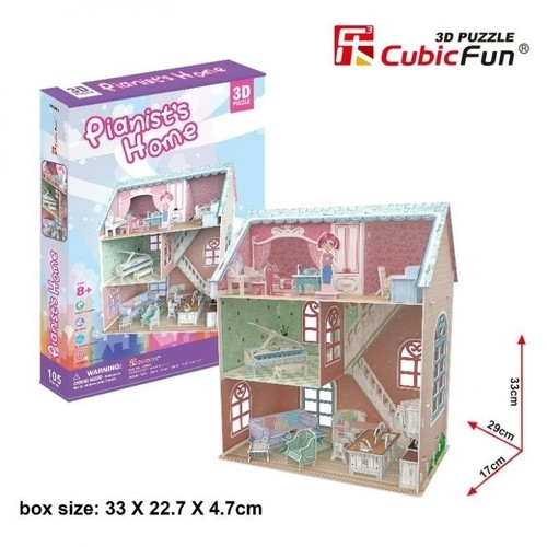 Puzzle 3D Pianist's Home Domek dla lalek (P684h)