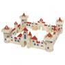 Zamek z klocków drewnianych, 145 części (GOKI-58984)