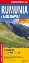 Rumunia i Mołdawia 1:800 000 Mapa laminowana