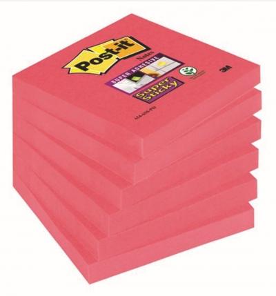 Notes samoprzylepny Post-It 654-6SS-Po różowy 90 k. 7,6 x 7,6 cm (70005198125)