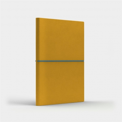 Notatnik A5 Fun M gładki żółty/niebieski