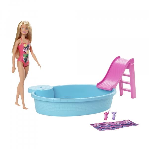 Barbie: Basen + lalka (GHL91)