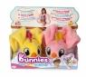 Bunnies Friends: Pluszowy ptaszek z magnesem 2-Pak - różowy i żółty (BUN