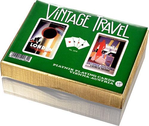 Karty Piatnik Vintage Travel 2 talie